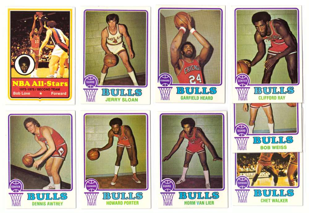 1973-74 Topps Basketball Team Set - Chicago Bulls