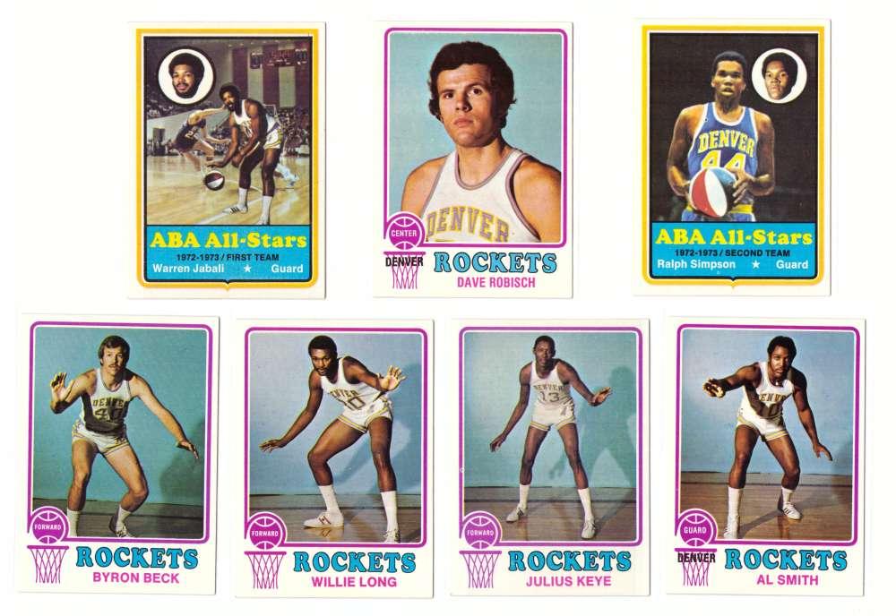 1973-74 Topps Basketball Team Set - Denver Rockets