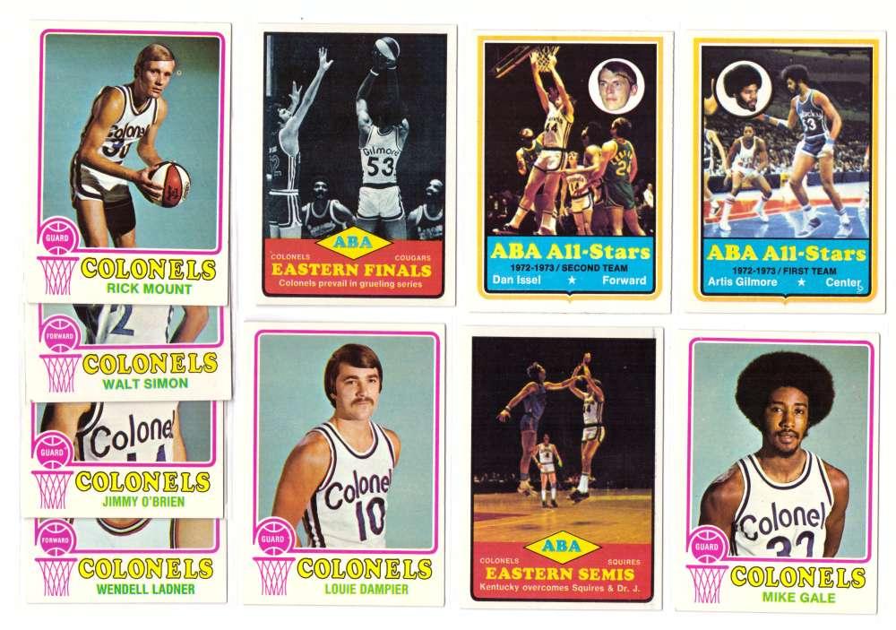 1973-74 Topps Basketball Team Set - Kentucky Colonels