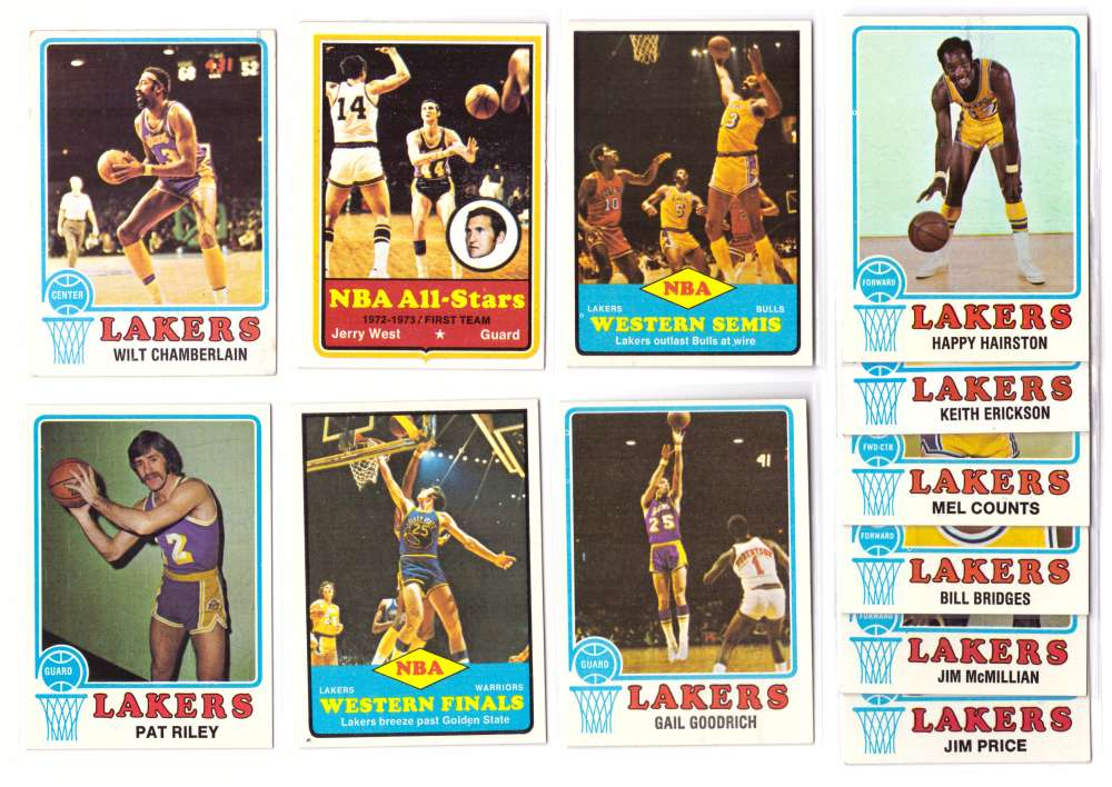 1973-74 Topps Basketball Team Set - Los Angeles Lakers