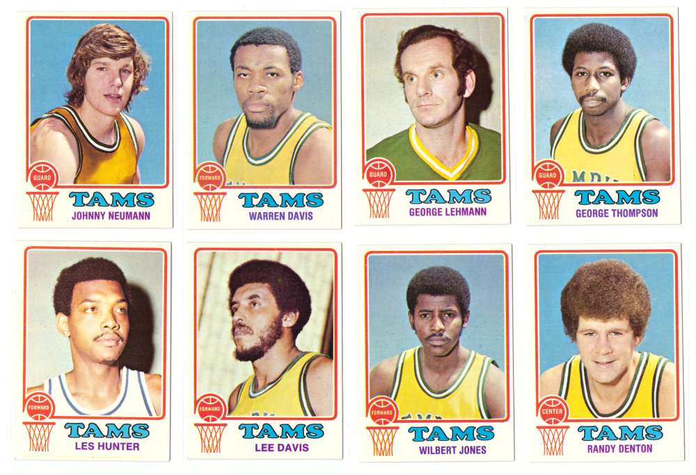 1973-74 Topps Basketball Team Set - Memphis Tams