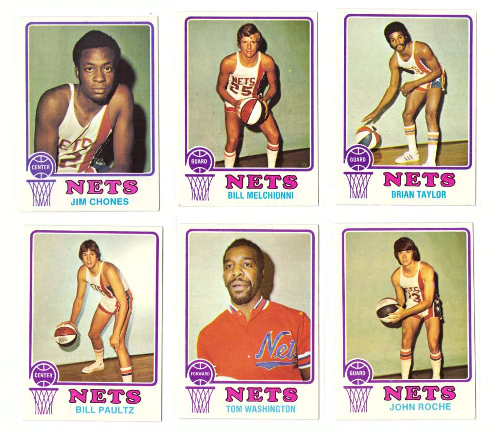 1973-74 Topps Basketball Team Set - New York Nets