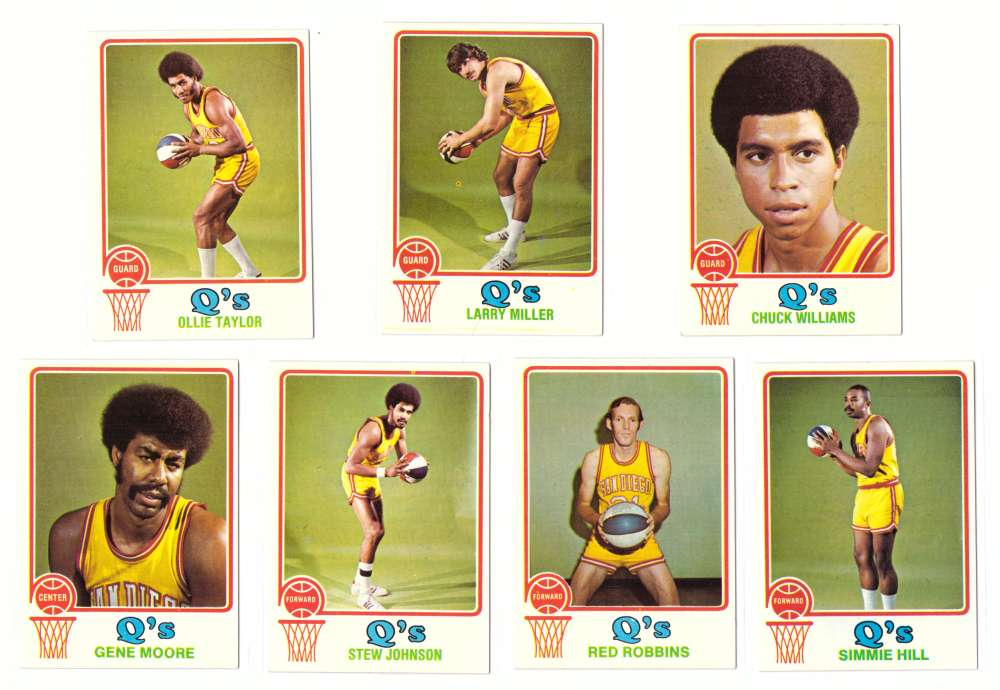 1973-74 Topps Basketball Team Set - San Diego Conquistadors