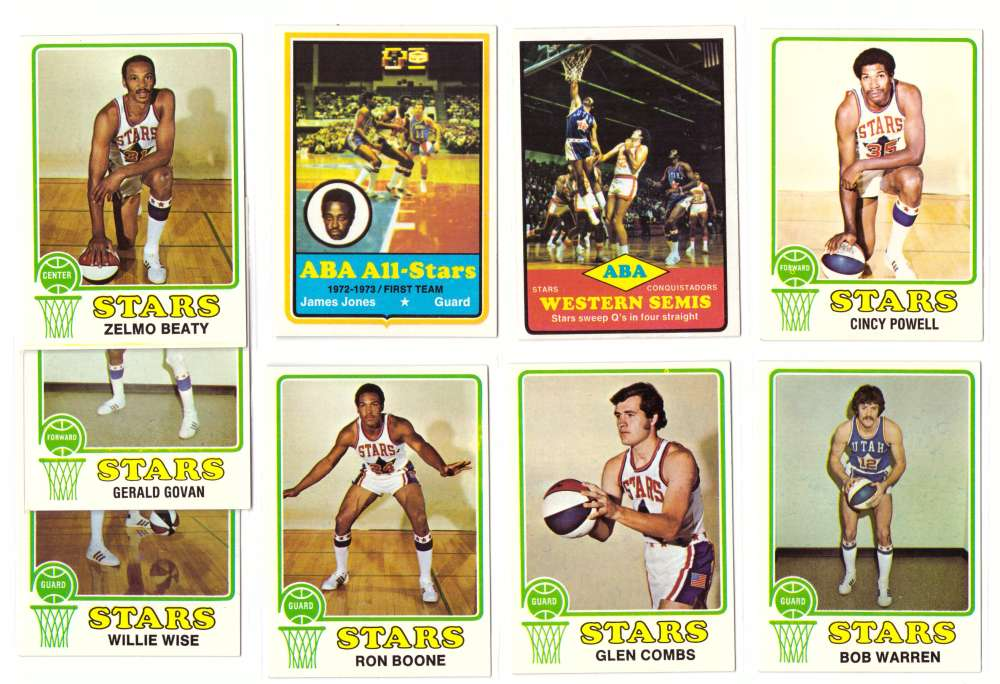 1973-74 Topps Basketball Team Set - Utah Stars