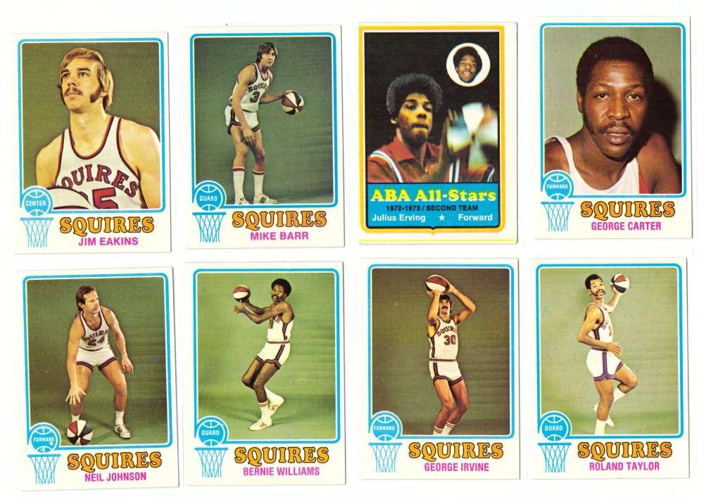 1973-74 Topps Basketball Team Set - Virginia Squires