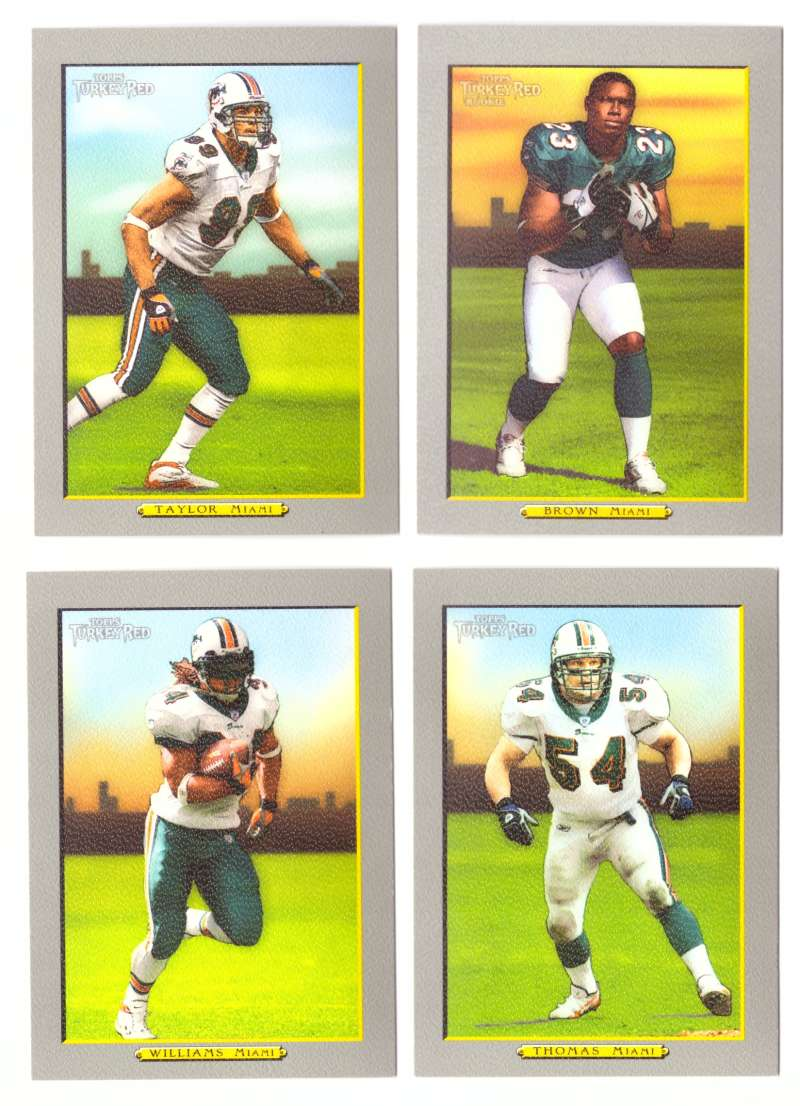 2005 Topps Turkey Red Football Team Set - MIAMI DOLPHINS