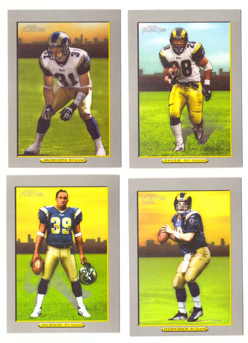2005 Topps Turkey Red Football Team Set - ST. LOUIS RAMS