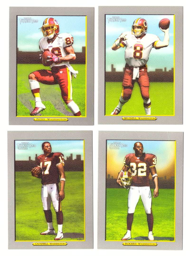 2005 Topps Turkey Red Football Team Set - WASHINGTON REDSKINS