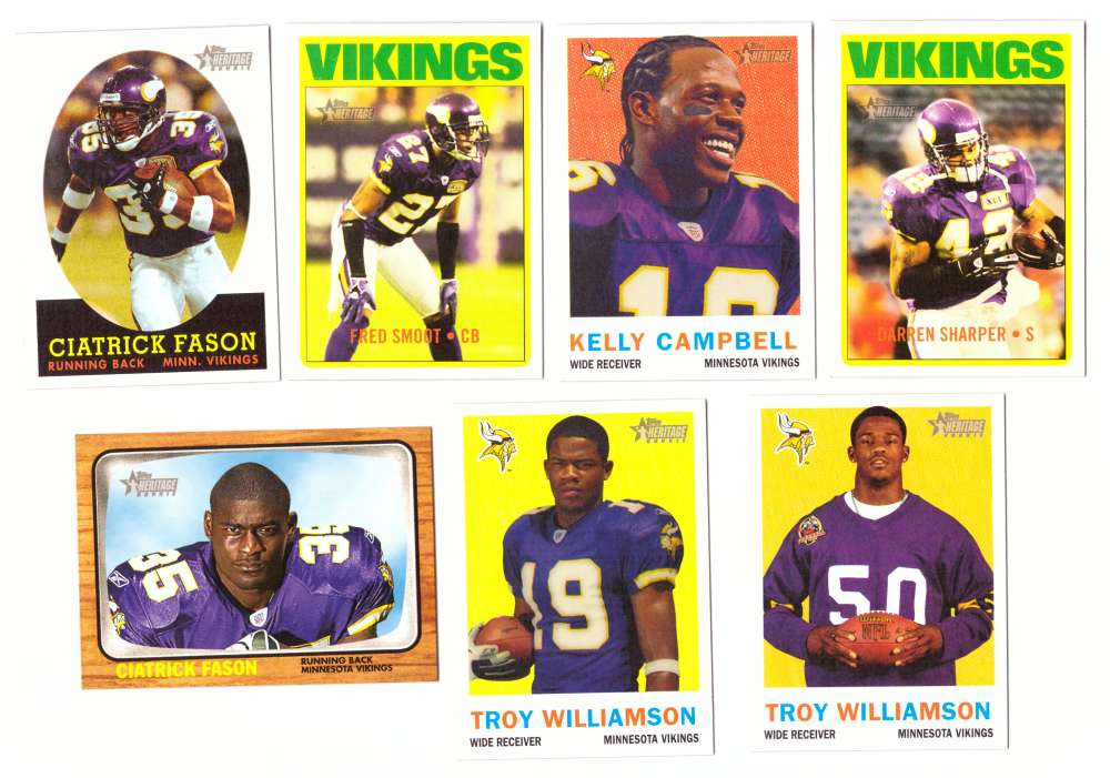 2005 Topps Heritage Football Team Master Set - MINNESOTA VIKINGS
