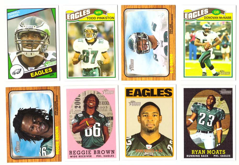 2005 Topps Heritage Football Team Master Set - PHILADELPHIA EAGLES