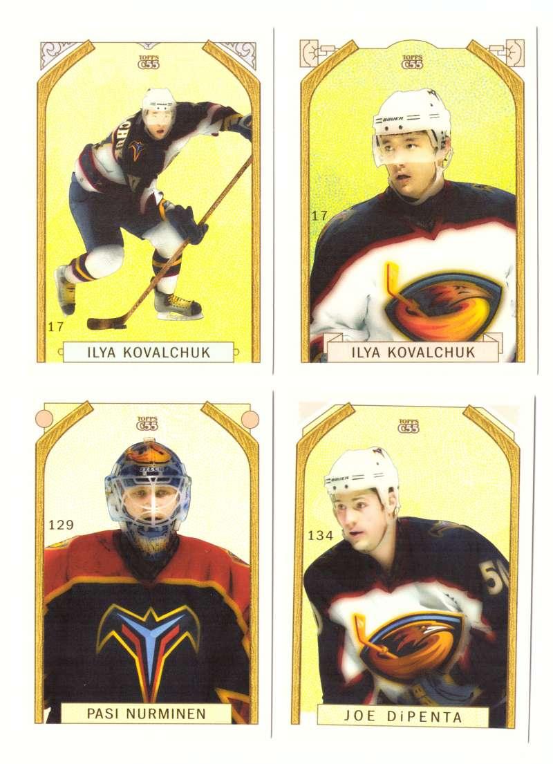 2003-04 Topps C55 Hockey Team Set w/ Variation - Atlanta Thrashers