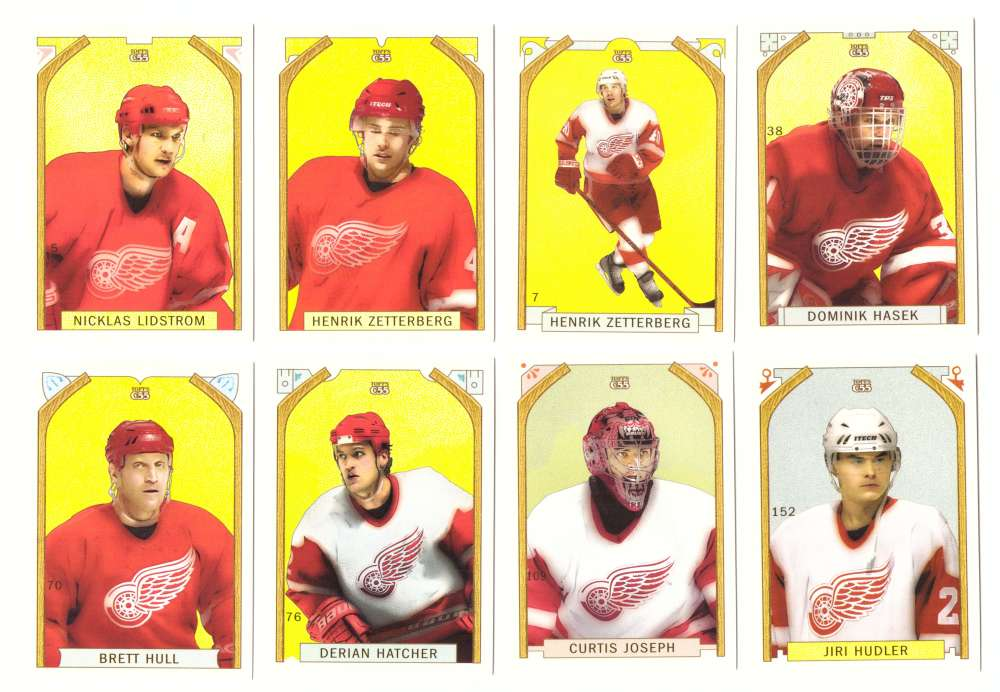 2003-04 Topps C55 Hockey Team Set w/ Variation - Detroit Red Wings