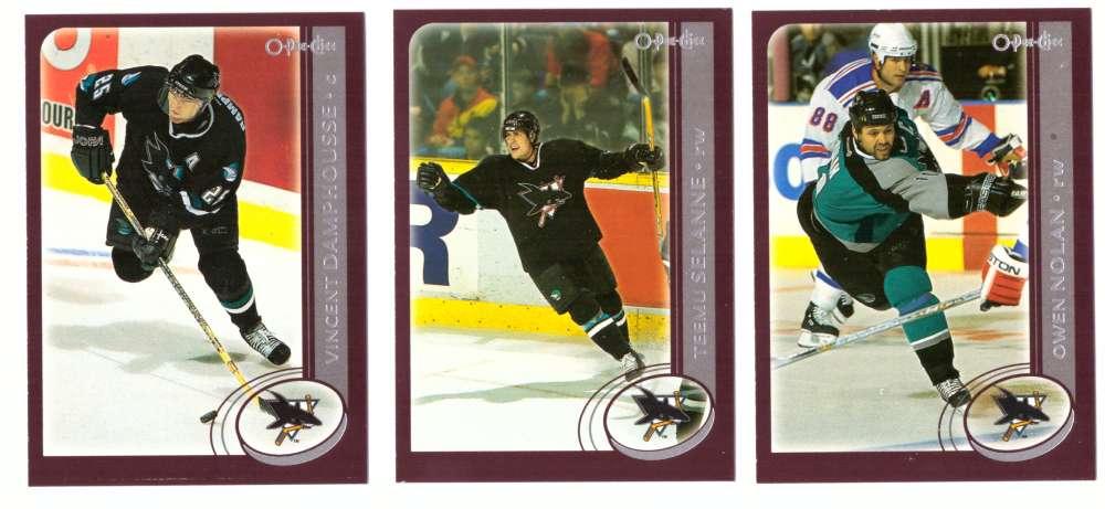 2002-03 O-Pee-Chee OPC Hockey Team Set - San Jose Sharks