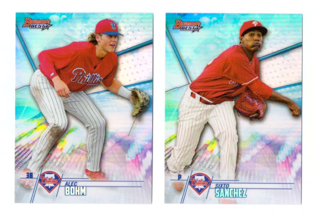 2018 Bowman's Best Top Prospects Refractors - PHILADELPHIA PHILLIES