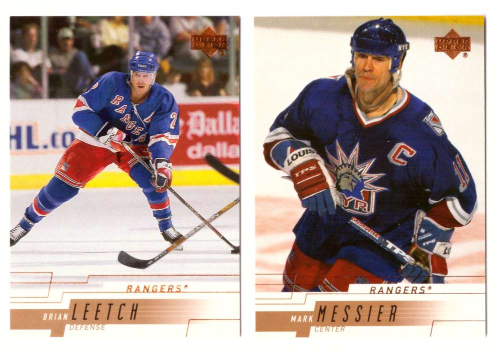 2000-01 Upper Deck (Base) Hockey Team Set - New York Rangers