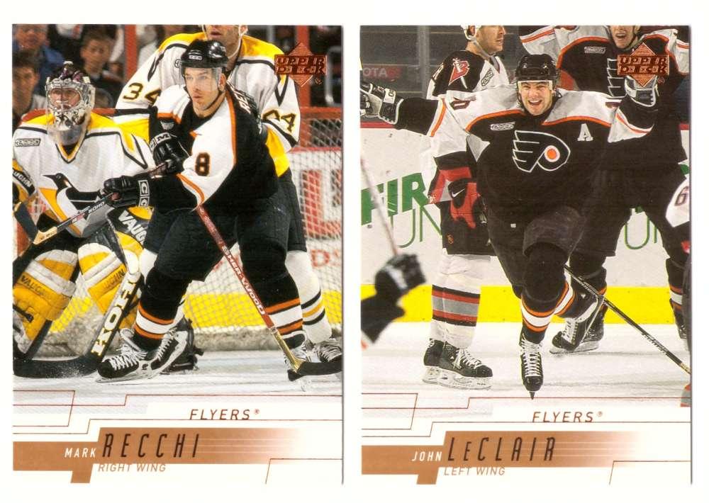 2000-01 Upper Deck (Base) Hockey Team Set - Philadelphia Flyers