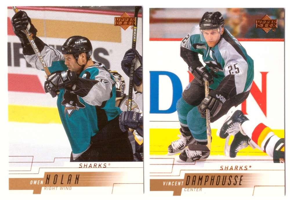 2000-01 Upper Deck (Base) Hockey Team Set - San Jose Sharks