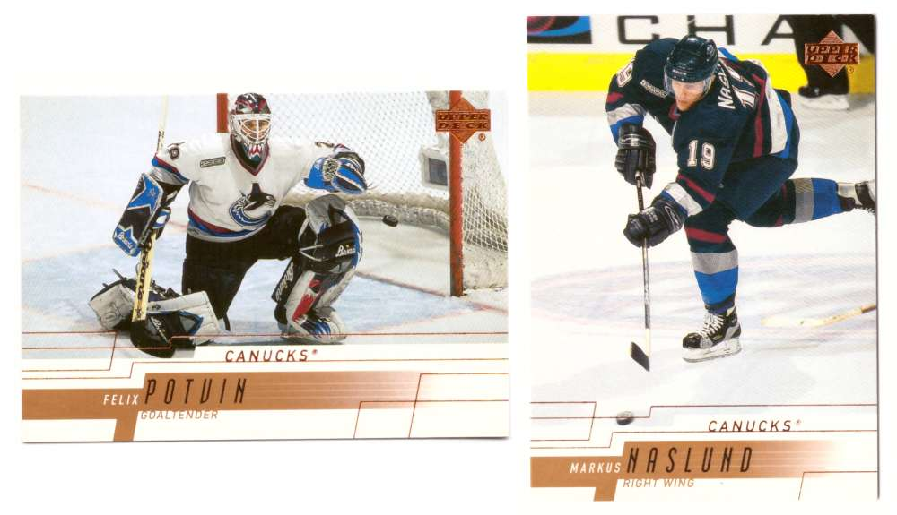 2000-01 Upper Deck (Base) Hockey Team Set - Vancouver Canucks