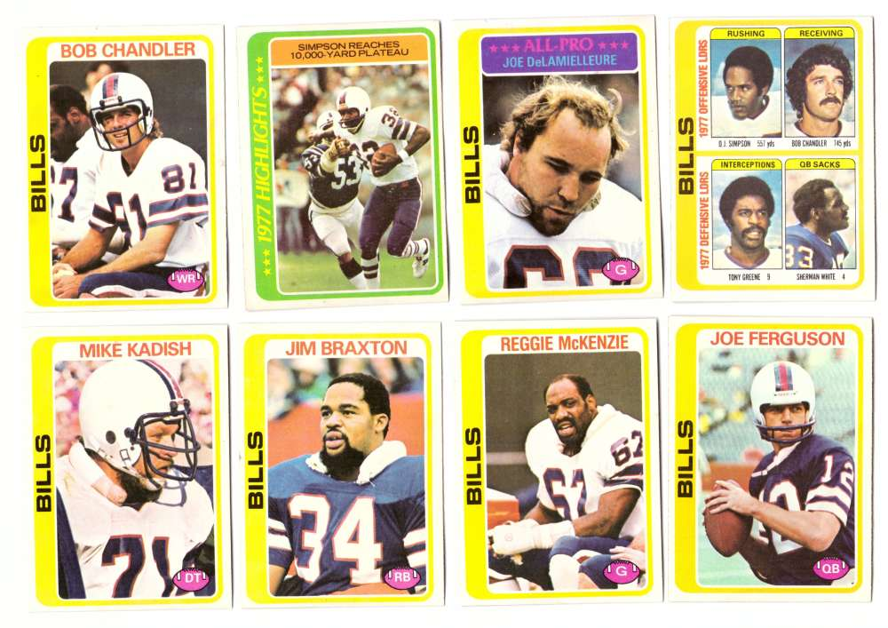 1978 Topps Football Team Set (Water Damage) - BUFFALO BILLS