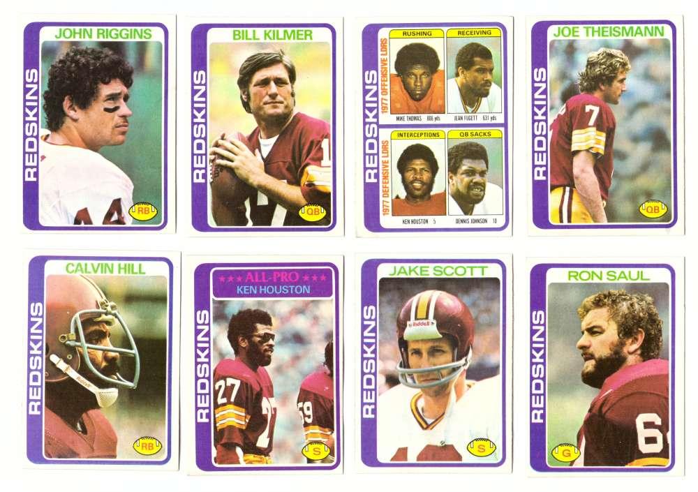 1978 Topps Football Team Set (Water Damage) - WASHINGTON REDSKINS