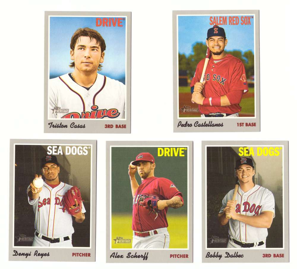 2019 Topps Heritage Minors - BOSTON RED SOX - 5 Card Team Set