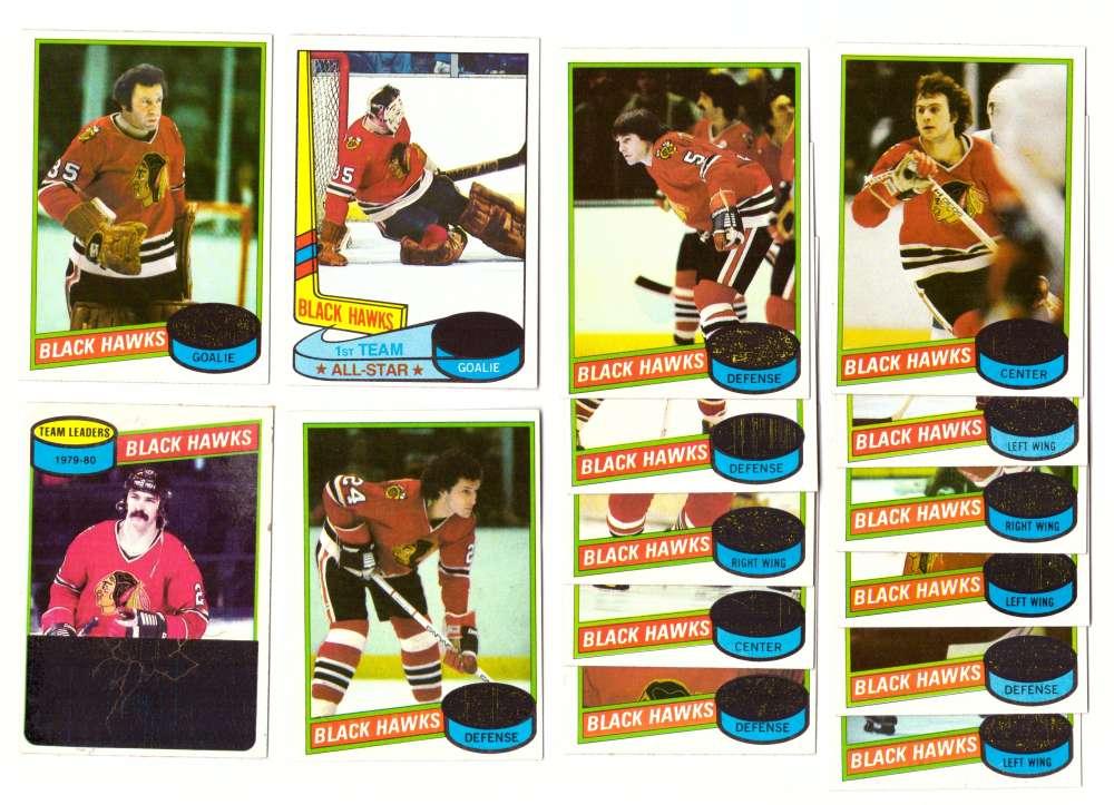 1980-81 Topps Hockey Team Set - Chicago Blackhawks