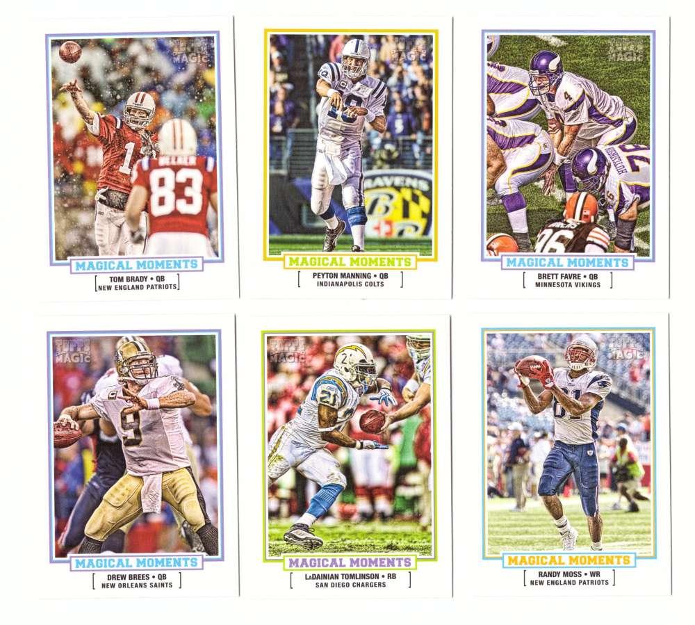 2010 Topps Magic Football Magical Moments 20 Card Set