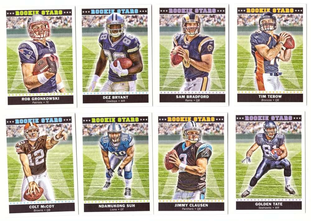 2010 Topps Magic Football Rookie Stars 20 Card Set