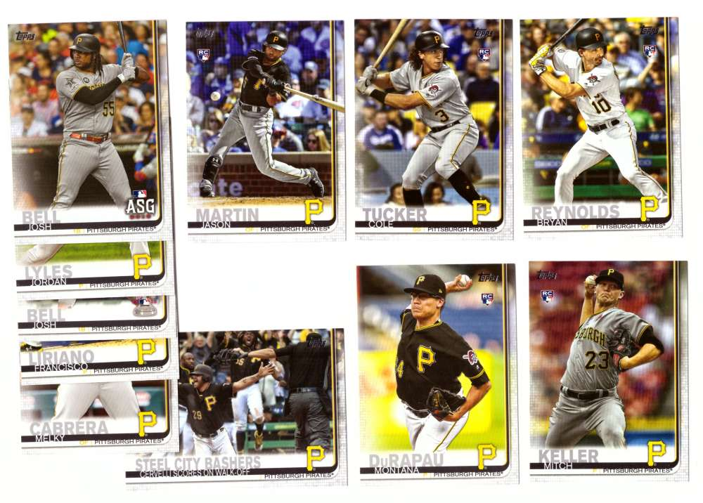 2019 Topps Update - PITTSBURGH PIRATES 11 Card Team Set