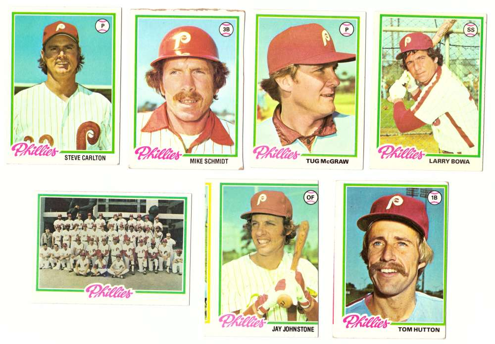 1978 Topps (VG+ Condition) - PHILADELPHIA PHILLIES Team Set