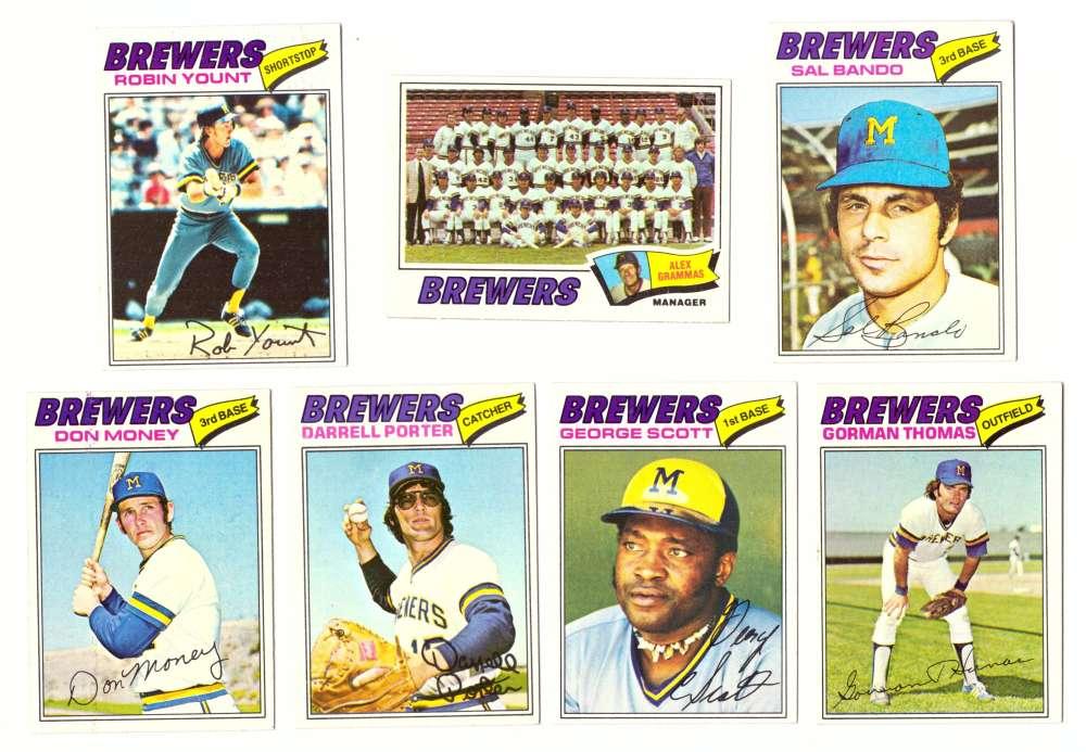 1977 Topps (E) - MILWAUKEE BREWERS Team Set
