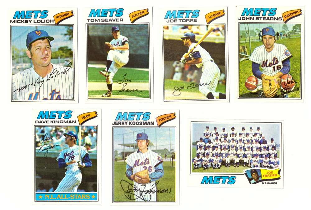 1977 Topps (F) - NEW YORK METS Team Set