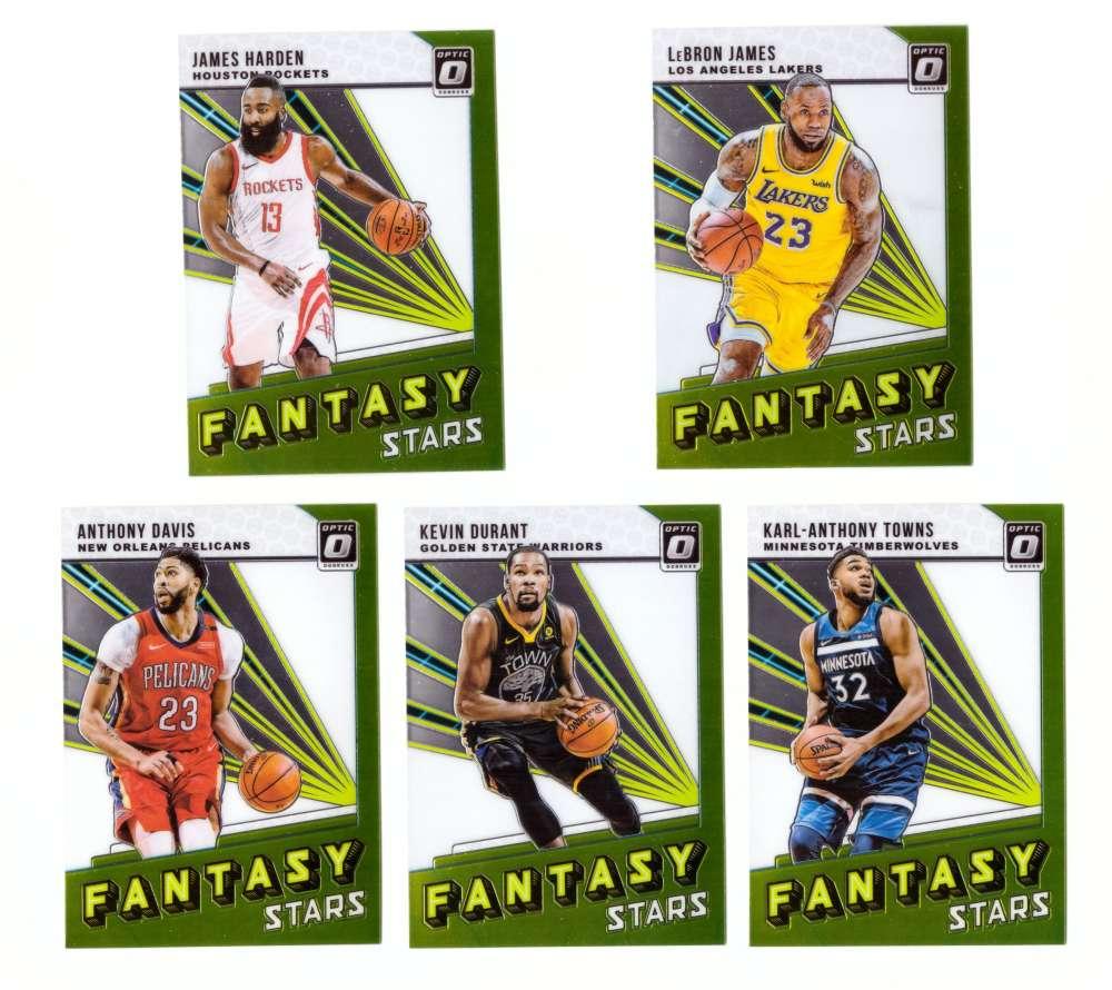 2018-19 Donruss Optic Fantasy Stars 5 Card Insert Set
