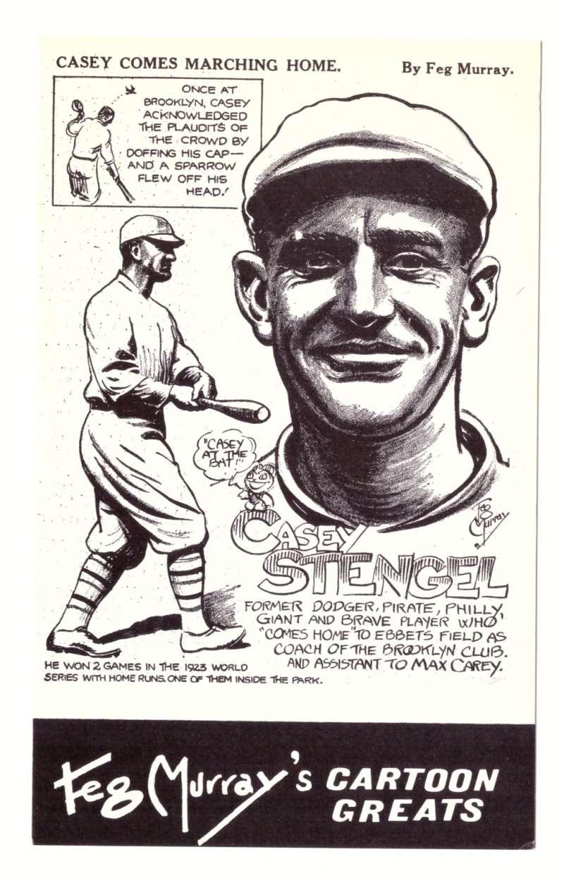 1981 Feg Murray's Cartoon Greats - Brooklyn Dodgers