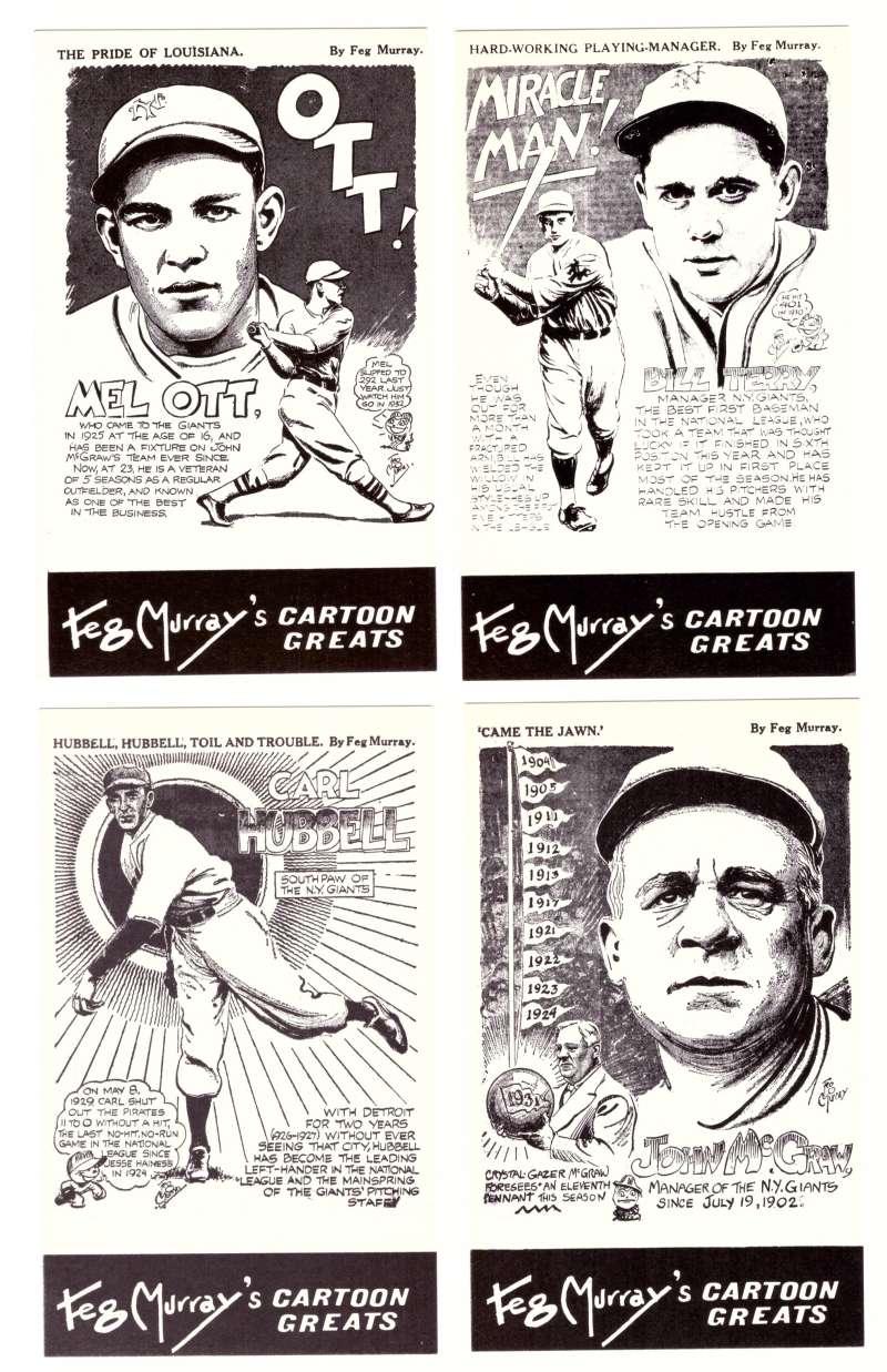 1981 Feg Murray's Cartoon Greats - New York GIANTS