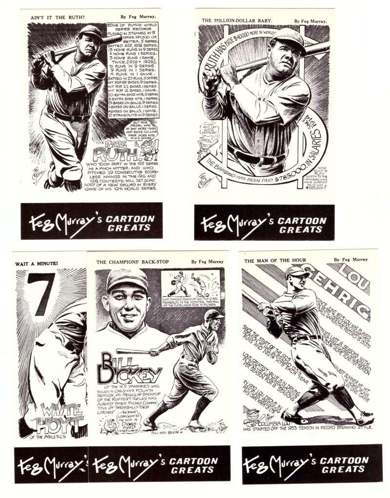 1981 Feg Murray's Cartoon Greats - NEW YORK YANKEES
