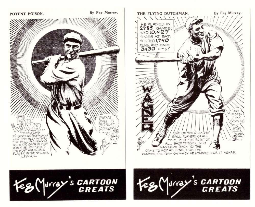1981 Feg Murray's Cartoon Greats - PITTSBURGH PIRATES