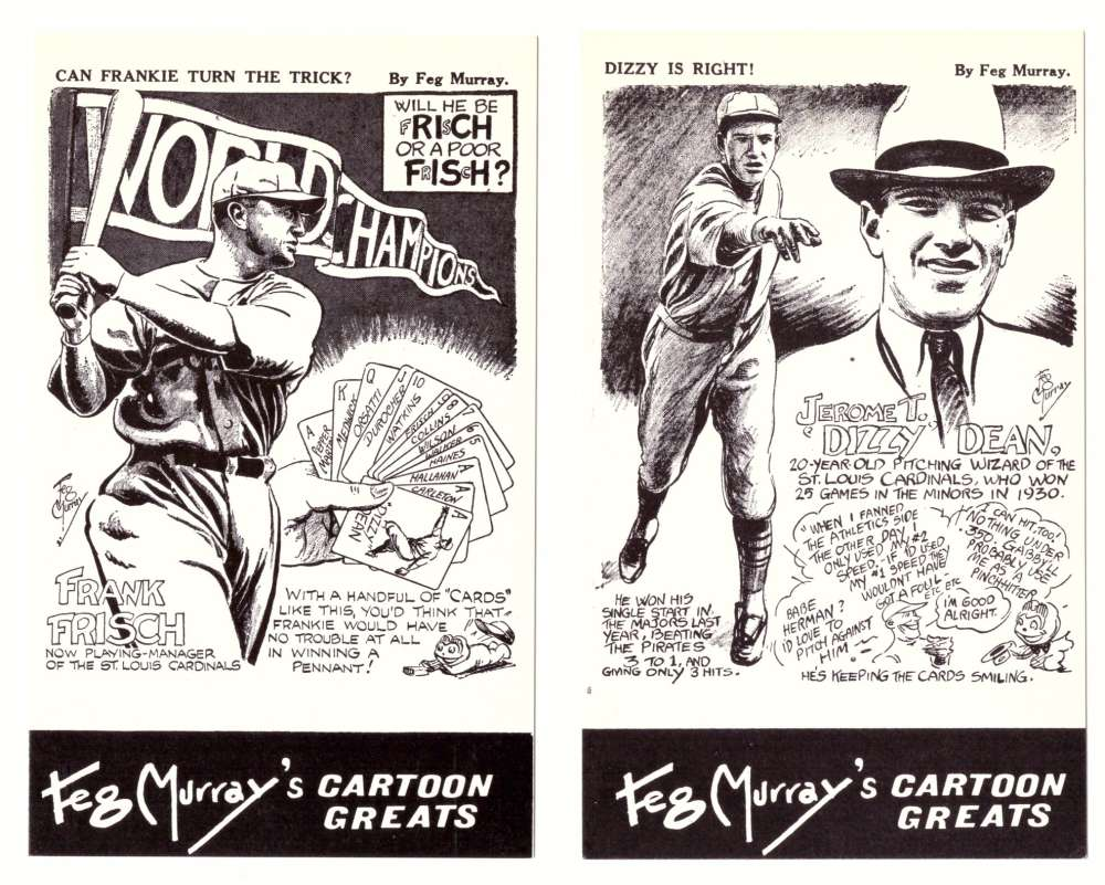1981 Feg Murray's Cartoon Greats - ST LOUIS CARDINALS
