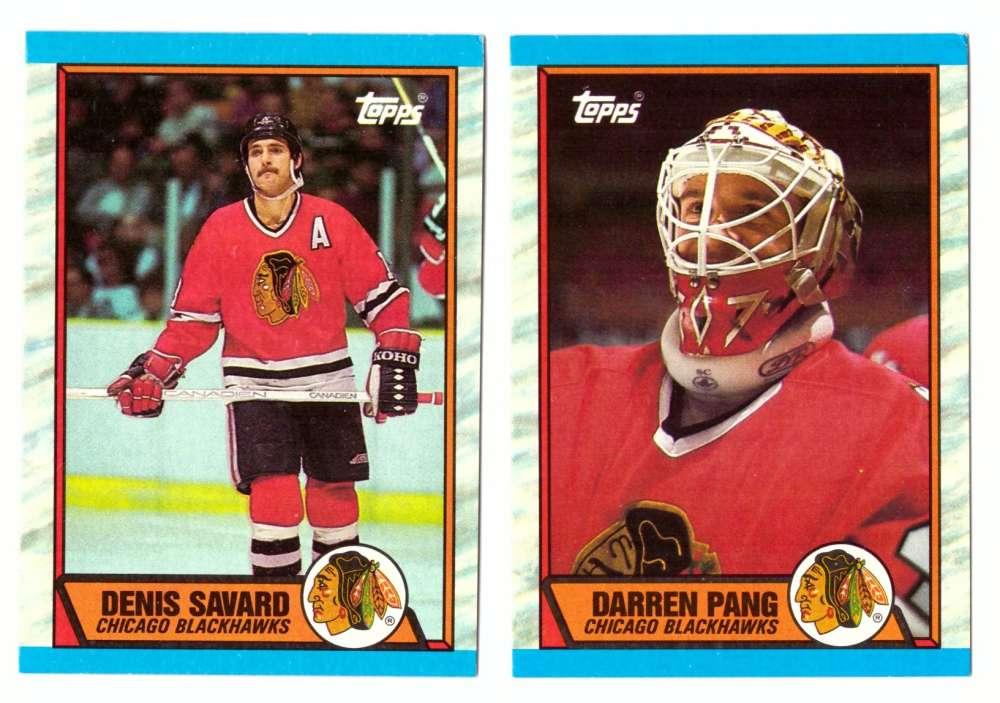 1989-90 Topps Hockey Team Set - Chicago Blackhawks