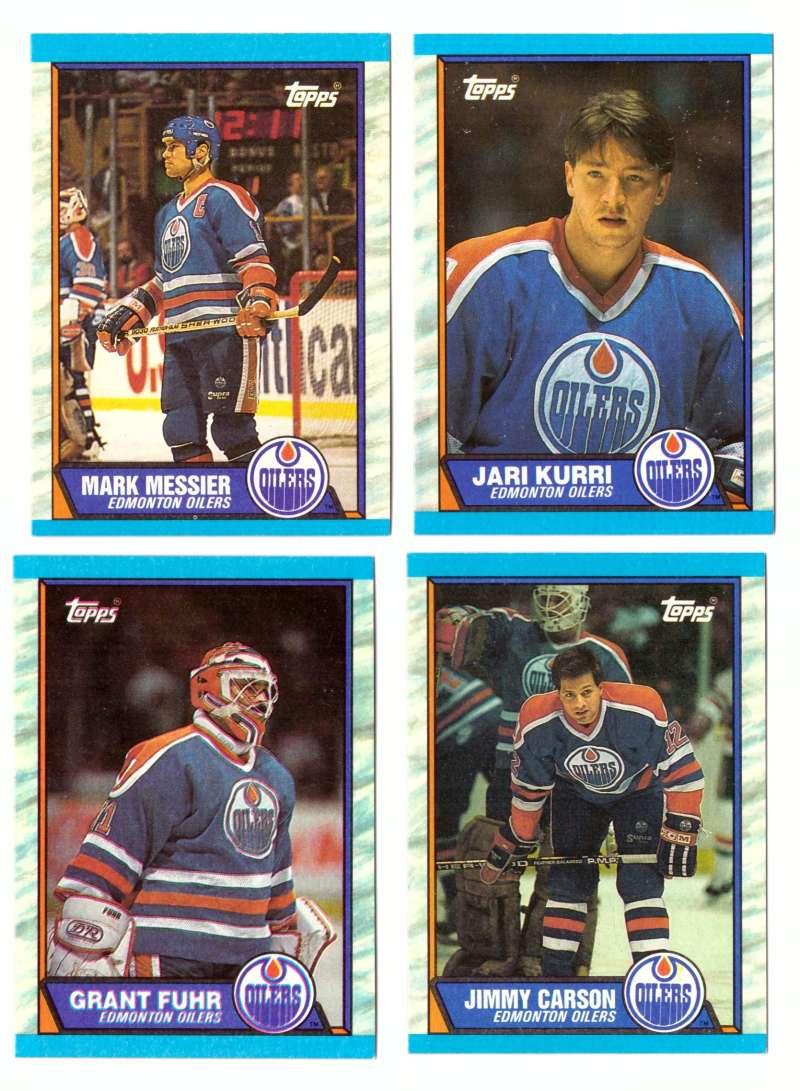 1989-90 Topps Hockey Team Set - Edmonton Oilers