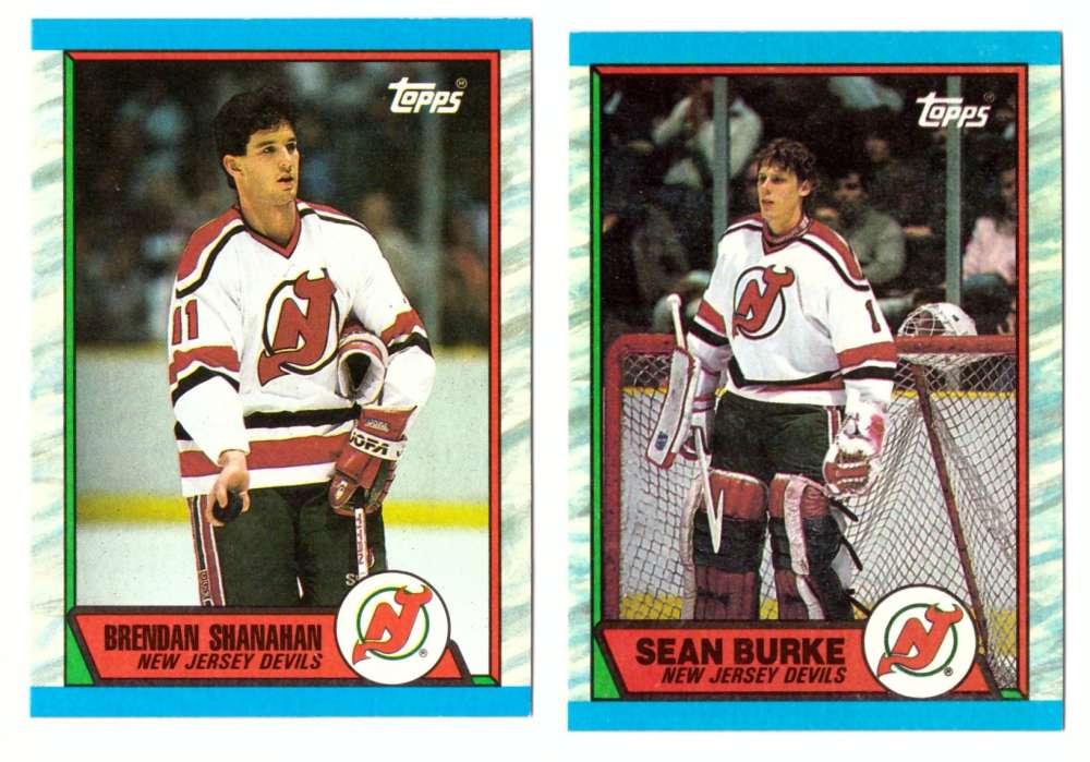 1989-90 Topps Hockey Team Set - New Jersey Devils