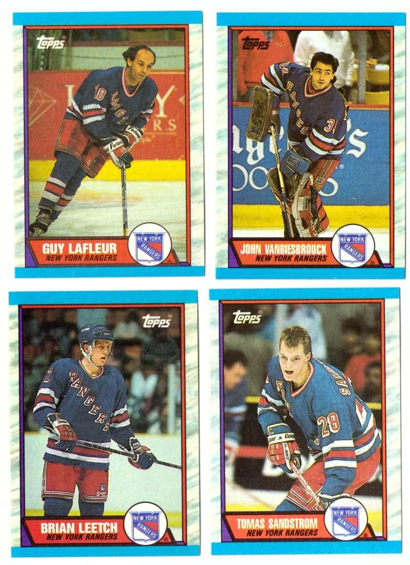 1989-90 Topps Hockey Team Set - New York Rangers