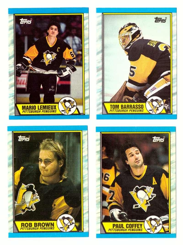 1989-90 Topps Hockey Team Set - Pittsburgh Penguins