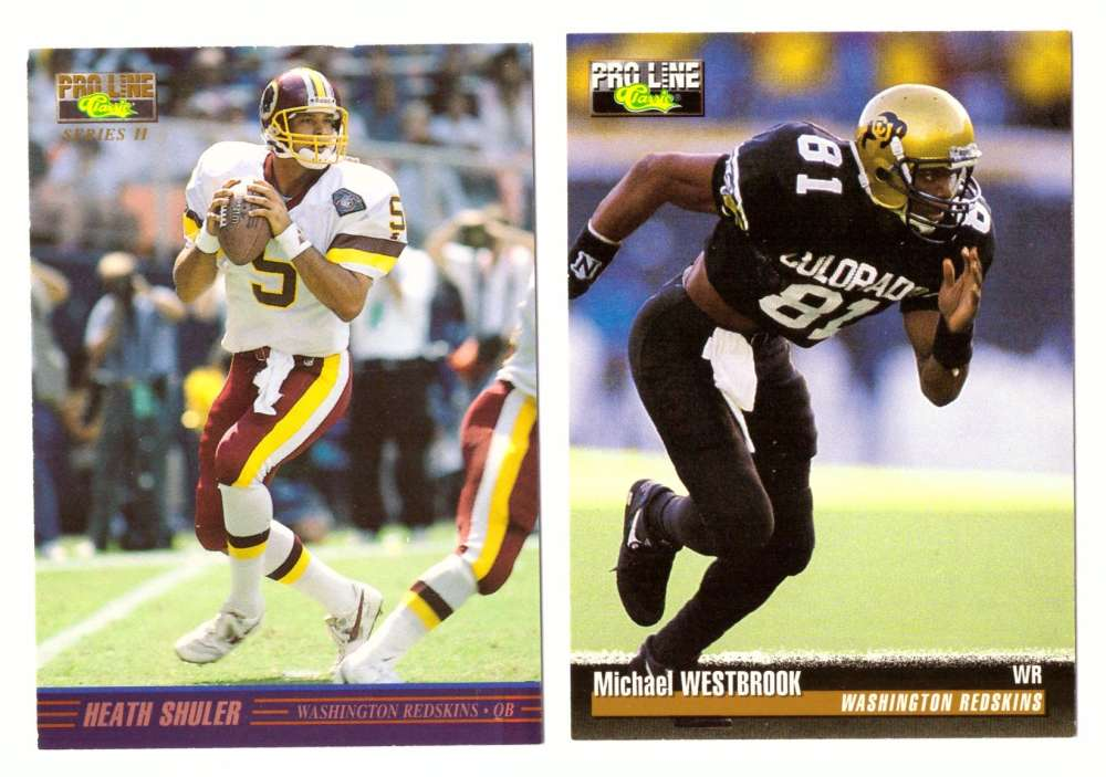 1995 Pro Line Classic Series I & II Football Team Set - WASHINGTON REDSKINS