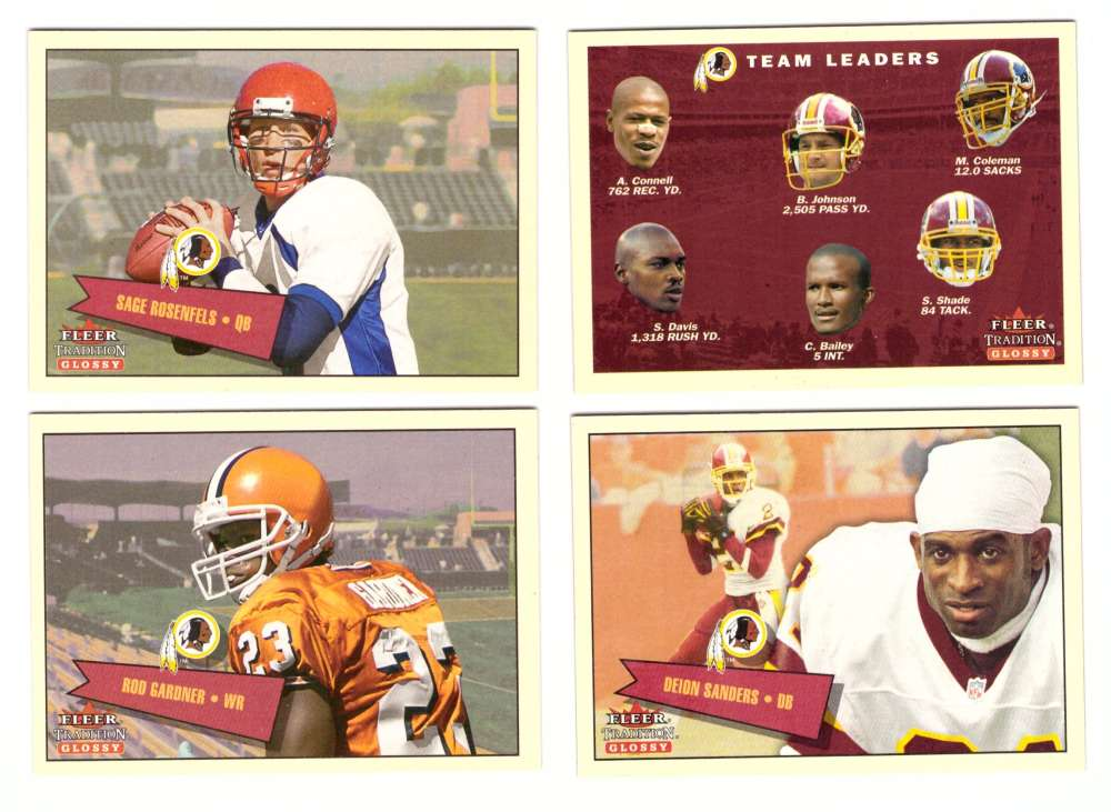 2001 Fleer Tradition Glossy Football (1-450) Team Set - WASHINGTON REDSKINS