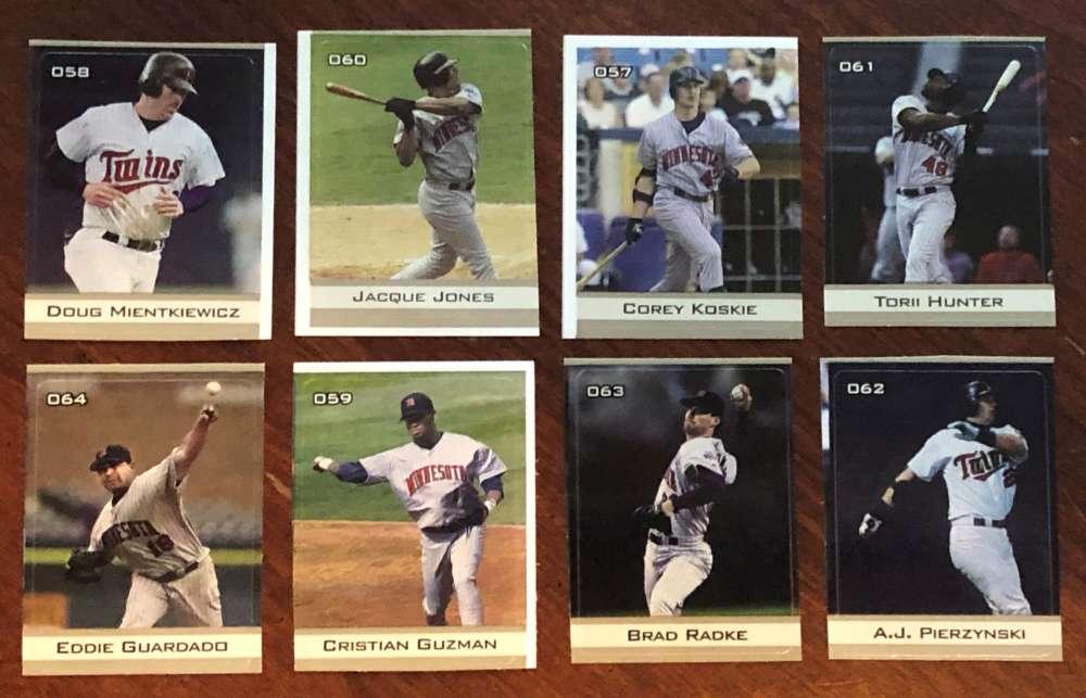 2003 MLB Stickers - MINNESOTA TWINS Team Set