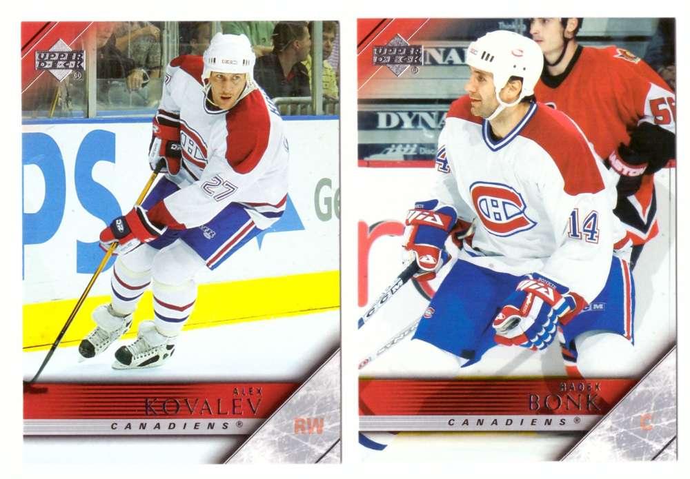2005-06 Upper Deck Hockey Team Set (1-200, 243-442) Montreal Canadiens