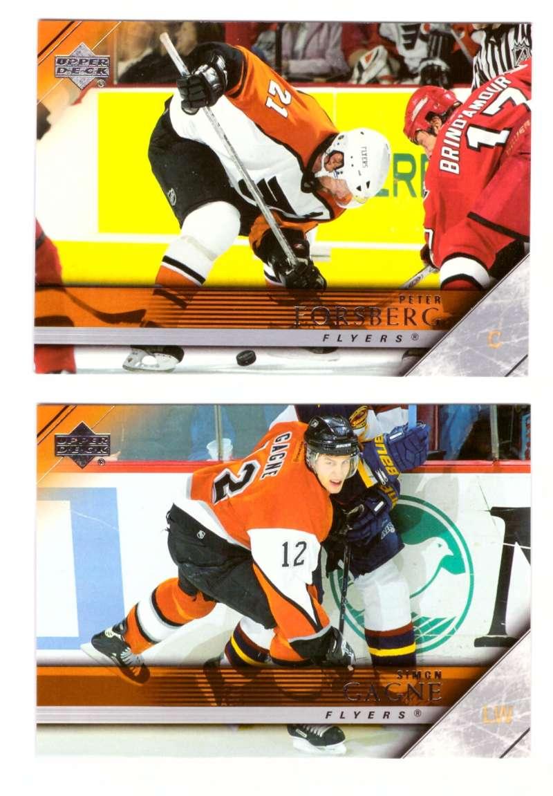 2005-06 Upper Deck Hockey Team Set (1-200, 243-442) Philadelphia Flyers