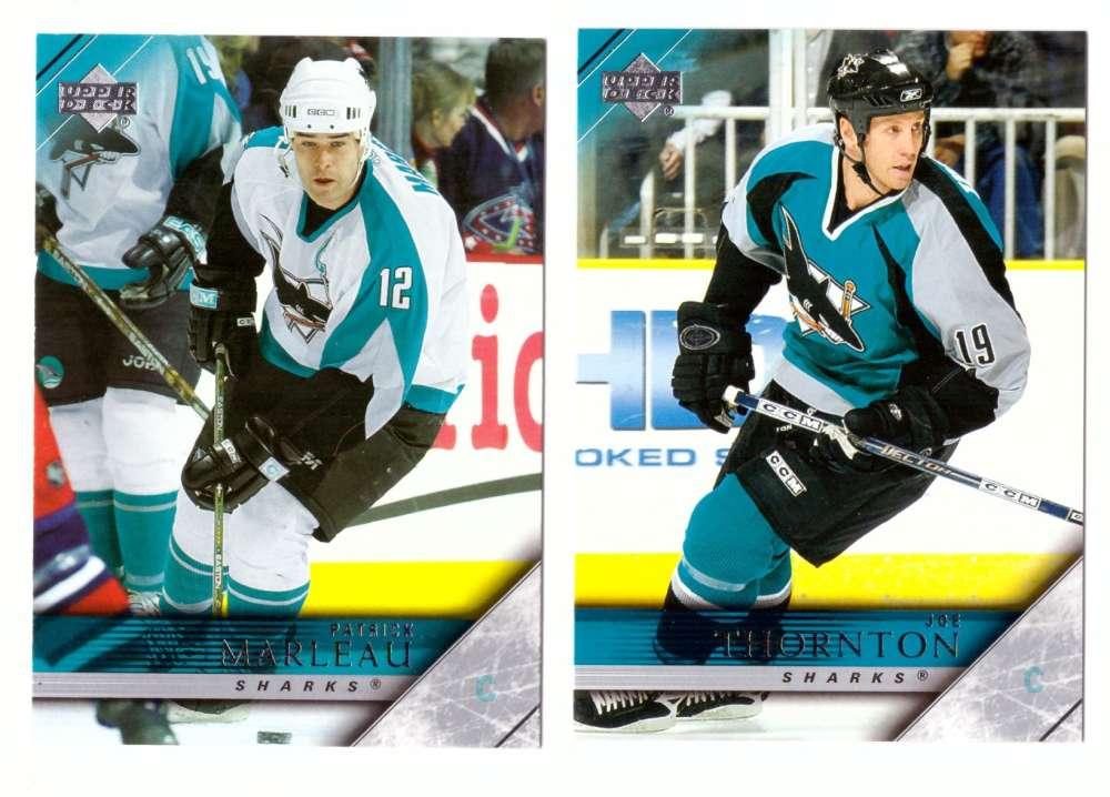 2005-06 Upper Deck Hockey Team Set (1-200, 243-442) San Jose Sharks
