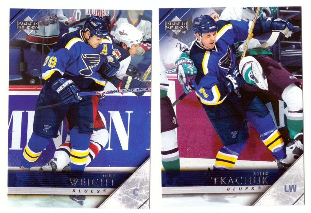 2005-06 Upper Deck Hockey Team Set (1-200, 243-442) St. Louis Blues